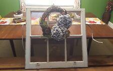 VINTAGE SASH ANTIQUE WOOD WINDOW UNIQUE FRAME PINTEREST with WREATH HOME DECOR