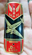 AIRMAN Bicycle Badge Emblem Head tube 1930 1940s Airplane part bike SCHWINN