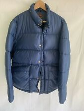 DEACON BROTHERS retro navy mens waterfowl downs puffer jacket size L Large 80's