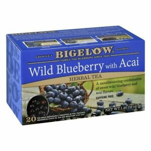 Bigelow Wild Blueberry with Acai Herbal Tea 20 Count