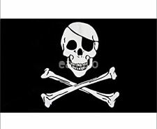 Brand New Black and White Pirate Skull and Crossbones 3 x 5 Foot Flag