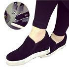 Women Height Increasing Platform Wedge Heel Suede Shoes Creeper Loafer Sneaker