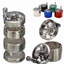 4 Layers Aluminum Alloy Hand Crank Tobacco Spice Grinder Pollintor Crusher 63MM