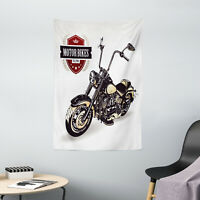 Vintage Tapestry Old Classic Motorcycle Print Wall Hanging Decor