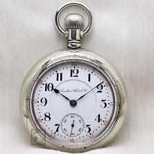 BIG 1901 Hamilton 940 RAILROAD Grade Pocket Watch 18s Antique USA Lever Set