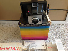 Vintage Polaroid Land Camera Super Colorpack in Box - Distance Finder Focus