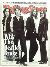 ROLLING STONE MAGAZINE ISSUE 1086 THE BEATLES MCCARTNEY LENNON SEPTEMBER 2009!!!