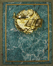lamp of knowledge trophy plaque teal board gold border 7 x 9
