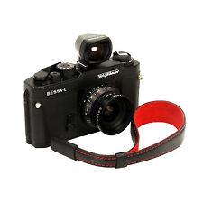 Black leather wrist strap for RF film Digital camera Leica