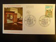 FRANCE PREMIER JOUR FDC YVERT 1759 LE CLOS LUCE  1F  AMBOISE  1973