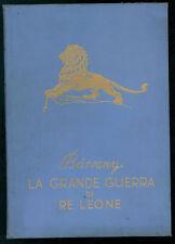 BARSONY STEFANO LA GRANDE GUERRA DI RE LEONE GENIO 1941  AVVENTURA INFANZIA