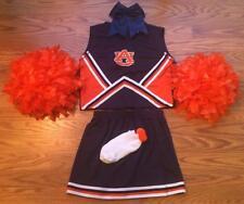 AUBURN ALABAMA Cheerleader OUTFIT HALLOWEEN COSTUME DELUXE POM POMS BOW 14