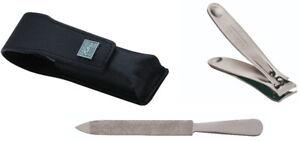 Leather Case: Nail Clipper & File Manicure Set Becker-Manicure Erbe Solingen