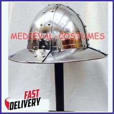 Functional Medieval Kettle Hat XIII Century Crusader Knight Infantry Helmet