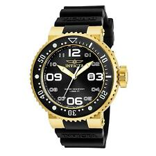 INVICTA MEN'S PRO DIVER BLACK SILICONE BAND STEEL CASE QUARTZ WATCH 21521