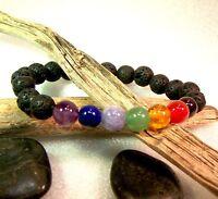 Chakra Lava Bead Buddha Stone Crystal Aroma Grade A Custom Made Healing Yoga