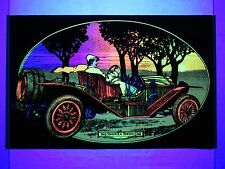 Vintage Psychedelic Blacklight Poster 1912 SIMPLEX SPEED CAR Western Graphics