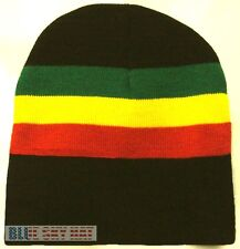 NEW RASTA JAMAICA JAMAICAN REGGAE FLAG COLOR BEANIE SKI KNIT WINTER WARM CAP HAT