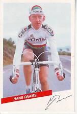 CYCLISME carte  cycliste HANS DAAMS équipe PDM 1986