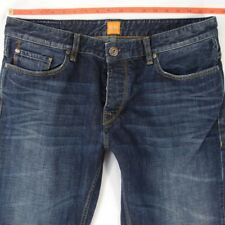 Herren Hugo Boss Orange 25 Regular Straight BLUE JEANS w36 l34