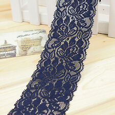 1Yard Embroidery Lace Trims Lacework Elastic Ribbon Sewing Craft DIY Accessories