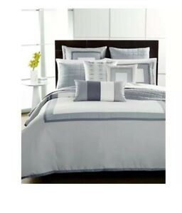 Hotel Collection Twin Comforter, Wrinkle-Resistant Modern Frame New MSRP $ 255