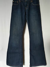 "WOMEN'S JEANS LEVI'S 460 BOOTCUT DISTRESSED SIZE 7/25"" LEG 31"" FREE POSTAGE"