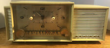 1958 ADMIRAL 296 CLOCK ALARM RADIO 5F4 WORKS