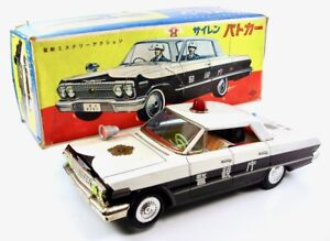 "1963 Chevrolet 14 "" (35.6 cm) Police Car w/ Original Box by Daiya NR"