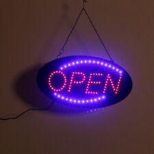 LED Scrolling Neon Light Open Sign Store Shop Hanging Outdoor Entry Display