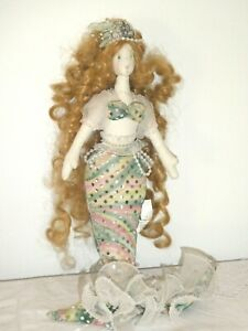 1 Oswald Sealy Imports Mermaid Long Curly Hair Sequins Lace Faux Pearls Elegant