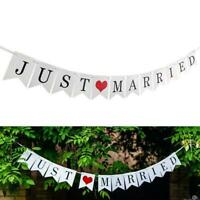 JUST MARRIED Wedding Banner Party Decorations Bunting Garland Photo Booth-Props