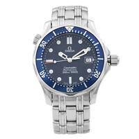 Omega Seamaster 36mm Steel Blue Dial Quartz Midsize Watch 2561.80.00