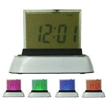 LED Uhr Tischuhr Wecker Alarm Digitaler Kalender Thermometer Farbwechsel
