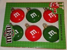 M&M'S Glass Candy Ornaments