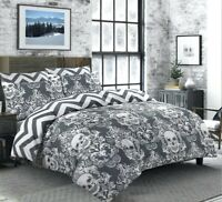 Halloween Baroque Skull Duvet Cover 100% Cotton Bedding Sets Double King Size