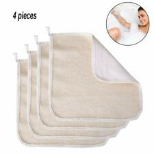 4 Pack Exfoliating Face Body Wash Cloth Towel Soft-Weave Scrub Towel Cloth Be.