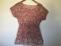 Women Forever 21 Blouse, Semi Transparent, M Size, Bottom Embroidered Lace