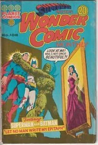1974 WONDER COMIC MONTHLY #108 Australian Murray Comics DC Worlds Finest 220