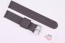 Original s.Oliver Uhrenarmband 16mm Grau Textilband für die Uhr: So-3131-LQ