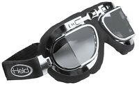 Held Classic Motorrad Brille im Retro Design Anti Fog Gläser verstellbars Band