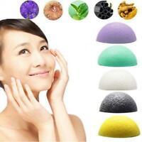 Mujeres Facial Puff Natural Belleza Esponja de lavado Exfoliator Cleanse KONJAC
