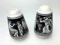 Vintage Salt And Pepper Shakers Hand Made In Greece Signed By D. Vassilopoulos