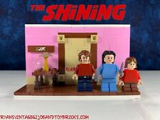 LEGO CUSTOM -- THE SHINING : HERE'S JOHNNY : BATHROOM SCENE REDRUM MOC SET