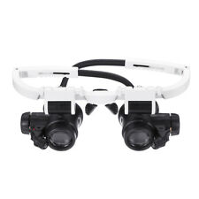 23X Binocular Eyepiece Magnifier Magnifying Glasses Jeweler Watch Repair Kit Adj