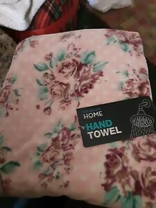 Pink Floral Hand Towel  New