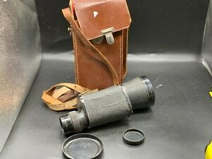 VINTAGE LEATHER CASED MONOCLE MONOCULAR 10x50 HONG KONG