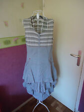 robe romantique shabby froufrous  taille 42/44 marque virginie & moi