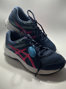 Asics Gel-Contend 6 1012A571 Running Shoes, Women's Size 9.5 WIDE Blue Pink Teal