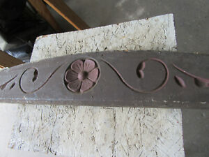 ~ ANTIQUE CARVED EXTERIOR PEDIMENT ~ 36 INCHES WIDE ~ ARCHITECTURAL SALVAGE ~